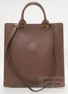 Lederer Brown PEBBLED Leather Tote Crossbody Handbag