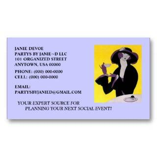 SOCIAL EVENT PARTY PLANNER/PLANNING BUSINESS CARDS