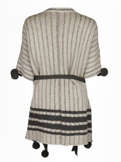 By Malene Birger Womens Solua Brown Lambswool Poncho Sweater s $450