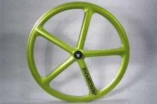Aerospoke Track Front Wheel Fiesta Green Non Machined 700c