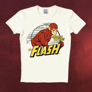 DC Comics Flash T Shirt, Fastest Man Alive, lizenziertes Kult Retro