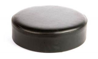 Oak Street Mfg Replacement Button Top Bar Stool Seat, Black Vinyl