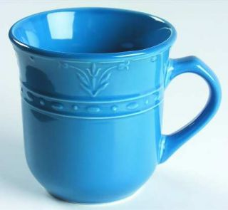 Kennex Group (China) Florence French Blue Mug, Fine China Dinnerware   All Blue,