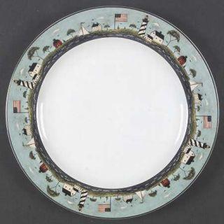 Sakura Coastal Breeze Dinner Plate, Fine China Dinnerware   Warren Kimble,Lighth