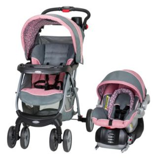 Stroller & Car Seat Travel System: Baby Encore, Grey/Pink (Giselle)