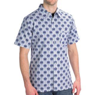 Royal Robbins Topography Print Shirt   Short Sleeve (For Men)   LIGHT PEWTER (L )