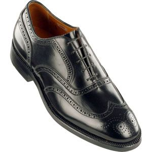 Alden Mens Wing Tip Bal Shell Cordovan Black Shoes   9741