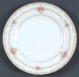 Style House Princess Bread & Butter Plate, Fine China Dinnerware   Tan & Gray Sc