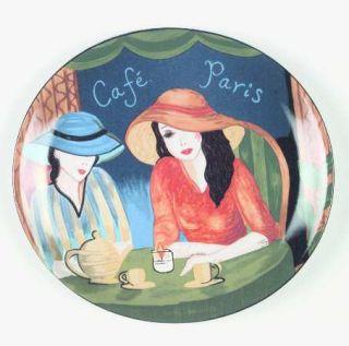 Sango Cafe Paris Dinner Plate, Fine China Dinnerware   Various Women In Cafe,Smo