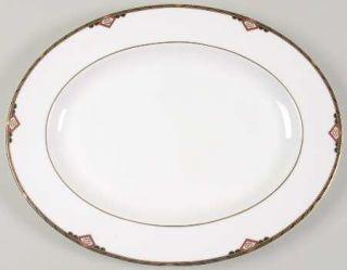 Spode Harvard 15 Oval Serving Platter, Fine China Dinnerware   Black And Gold B