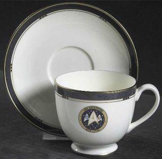 Pfaltzgraff Star Trek (Bone China) Footed Cup & Saucer Set, Fine China Dinnerwar
