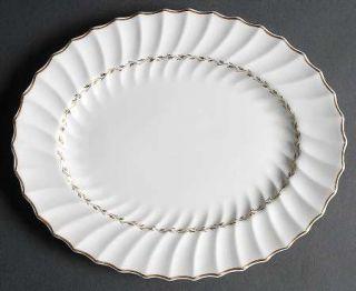 Royal Doulton Adrian 10 Oval Serving Platter, Fine China Dinnerware   Inner Gol