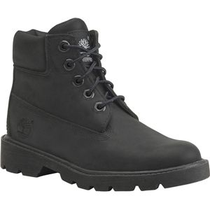 Timberland Kids 6 Inch Classic Boot Toddler Black Nubuck Boots   10810