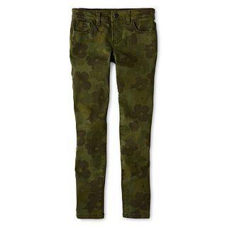 JOE FRESH Joe Fresh Camo Skinny Jeans   Girls 4 14, Green, Girls