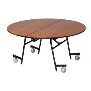 AmTab Manufacturing Corporation Vinyl Edge Particle Board Round Mobile Table