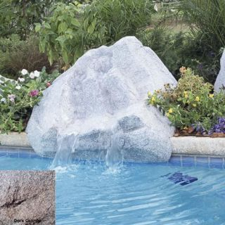 Interfab 420028 500 GPH Keystone Pool Side Waterfall, 45 x 38 x 21 Dark Granite