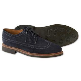 Blue Suede Wingtip Shoes, 9 1/2