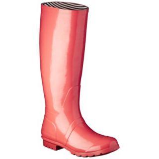 Womens Classic Knee High Rain Boot   Coral 9