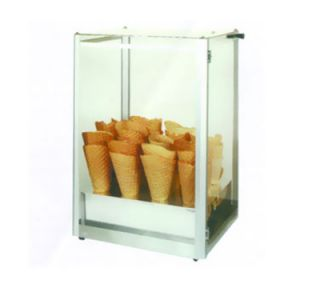 Gold Medal Giant Waffle Cone Display Case w/ Plexiglas Windows