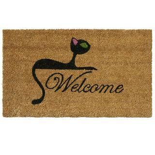 Kitty Cat Coir Welcome Mat