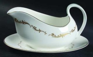 Royal Doulton French Provincial Gravy Boat & Underplate, Fine China Dinnerware