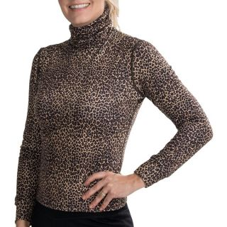 Hot Chillys MTF 3000 Roll Down Turtleneck (For Women)   LEOPARD (S )