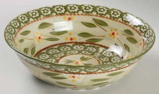 Temp Tations Old World Green Soup/Cereal Bowl, Fine China Dinnerware   Green Spo