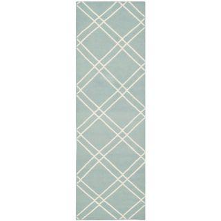 Safavieh Dhurries Light Blue/Ivory Rug DHU638C Rug Size: Runner 26 x 8