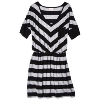 Mossimo Supply Co. Juniors V Neck Elbow Sleeve Dress   Black/Gray L(11 13)