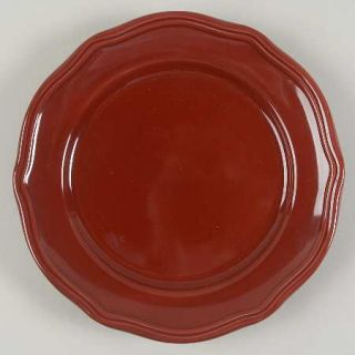 Home Trends Hts3 Salad Plate, Fine China Dinnerware   All Burgundy,Plain,Embosse