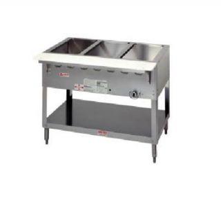 Duke Aerohot Steamtable Wet Bath Unit, 5 Pans & Carving Board, NG