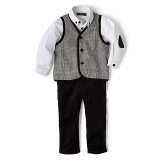 Wendy Bellissimo 3 pc. Vest Set   Boys 6m 24m, Black, Boys