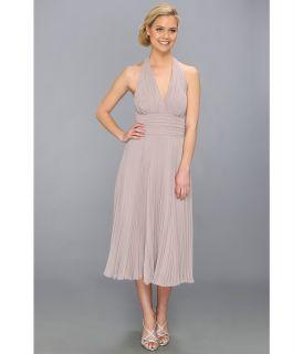 Donna Morgan Halter Chiffon Dress Womens Dress (Taupe)