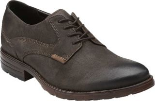Mens Clarks Denton Stroll   Dark Brown Leather Lace Up Shoes