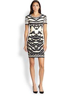 ... Roberto Cavalli Animal Print Knit T Shirt Dress Beige Animal ...