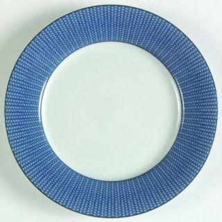 Ralph Lauren Reed Indigo Salad Plate, Fine China Dinnerware   Blue Wicker Rim On