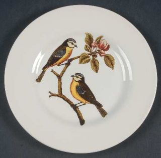 Royal Stafford Decoupage Salad Plate, Fine China Dinnerware   Birds,Flowers,Leav