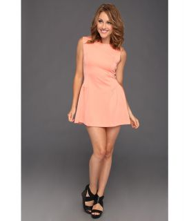 Gabriella Rocha Keren Techno Scuba Dress Womens Dress (Coral)