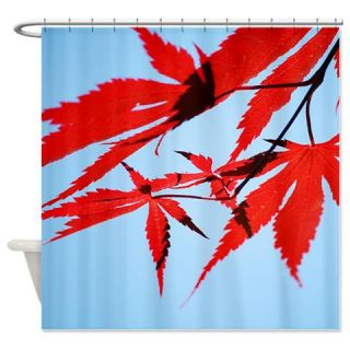 CafePress Red Japanese Maple Leaves Shower Curtain Free Shipping! Use code FREECART at Checkout!