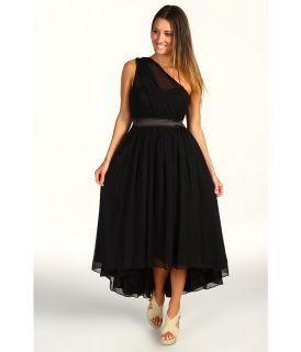 Jessica Simpson One Shoulder Gathered Evening Dress Womens Dress (Black)