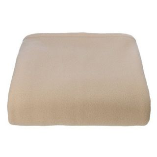 Super Soft Fleece Blanket   Sand (Twin)