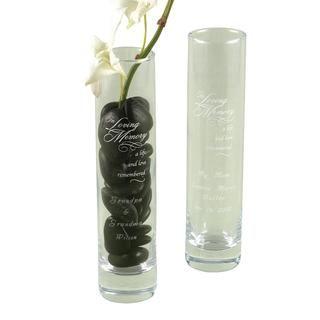 Hbh In Loving Memory Bud Vase
