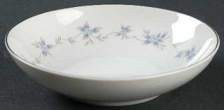 Mikasa Rosita Coupe Cereal Bowl, Fine China Dinnerware   Blue Roses, Gray& Laven