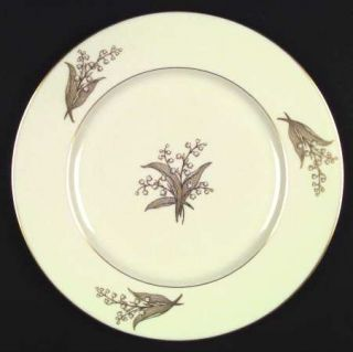 Lenox China Springdale (Gold Trim) Dinner Plate, Fine China Dinnerware   Gold Li