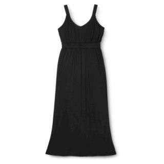 Merona Womens Plus Size Sleeveless V Neck Maxi Dress   Black 2