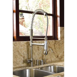 Cusinxel 27 inch Spiral Pulldown Satin Nickel Kitchen Faucet