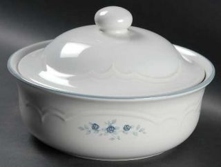 Pfaltzgraff Poetry Glossy 2 Qt Round Covered Casserole, Fine China Dinnerware
