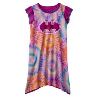 Batgirl Girls Short Sleeve Nightgown   Purple M