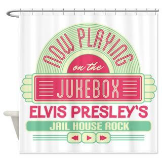 Elvis Jail House Rock Jukebox Shower Curtain Use Code FREECART At Checkout