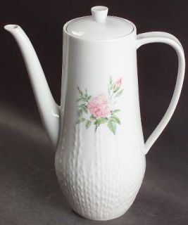 Hutschenreuther Rosita Coffee Pot & Lid, Fine China Dinnerware   Excellenz Shape